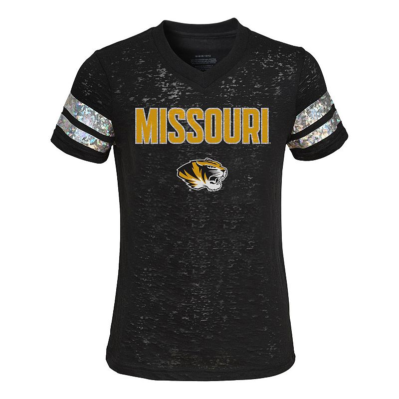 Girls 4-6x Missouri Tigers Opal Burnout Tee