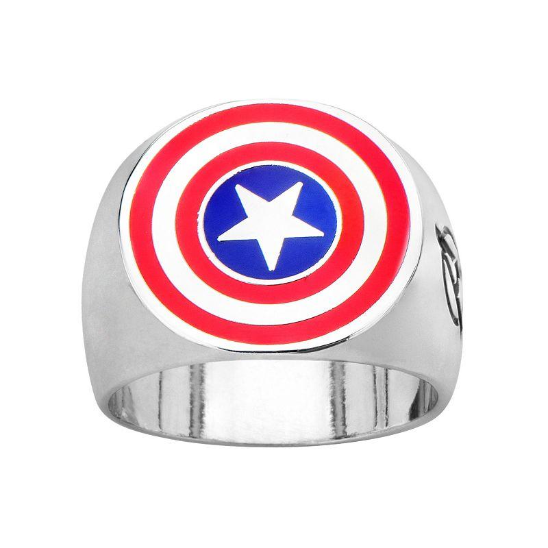 Avengers Captain America Stainless Steel Ring - Men