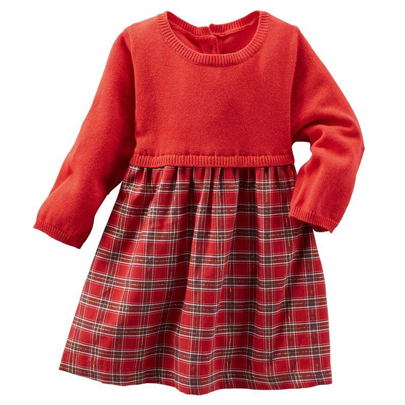 Baby Girl OshKosh B'gosh® Plaid Sweater Dress