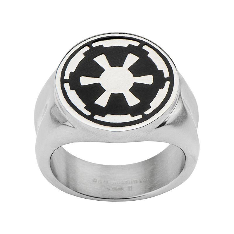 Star wars stainless steel imperial symbol ring men for Kohls jewelry mens rings