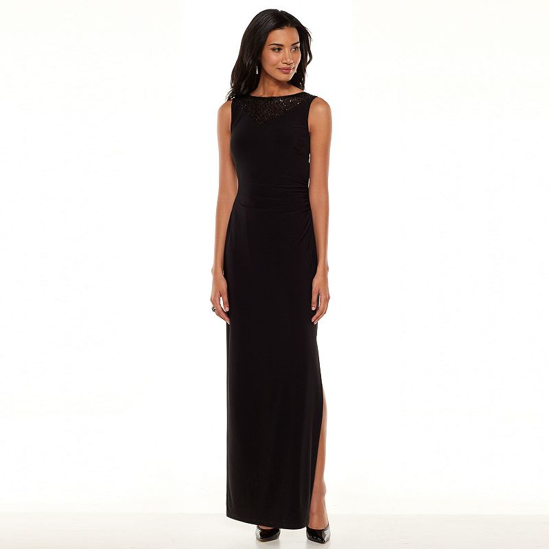Women's Chaps Sequin Ruched Evening Gown