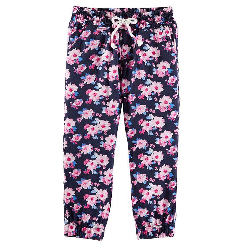 Toddler Girl OshKosh B'gosh® Floral Woven Jogger Pants