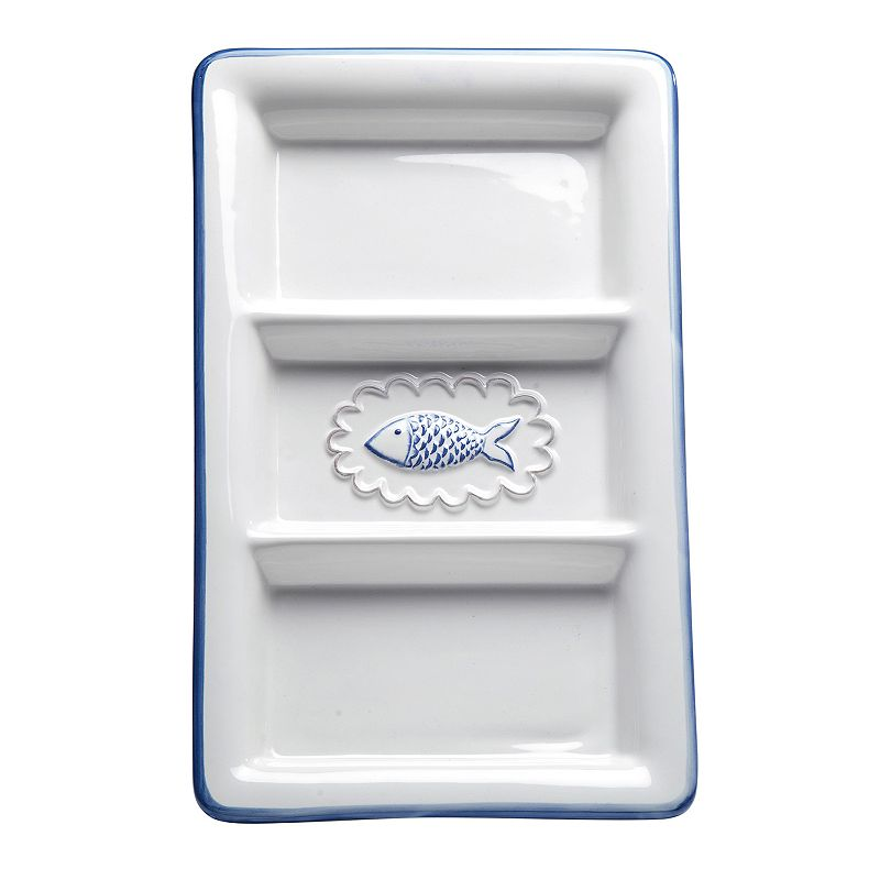 Global Amici San Remo Collection 3-Section Serving Tray
