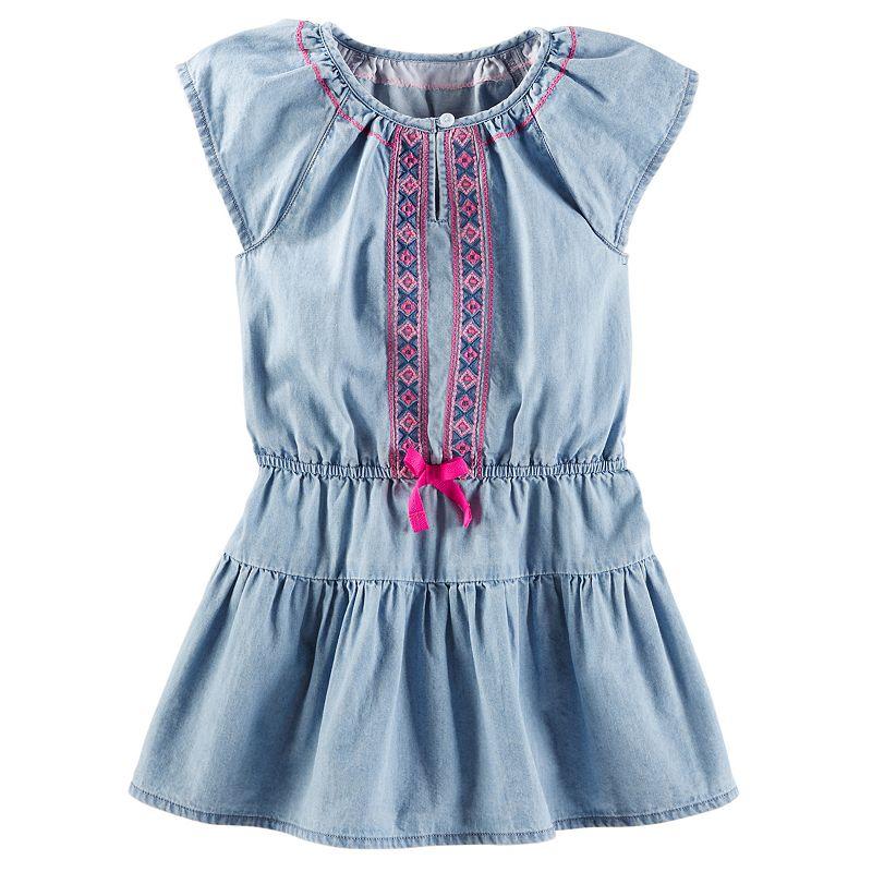 Toddler Girl OshKosh B'gosh® Embroidered Chambray Dress