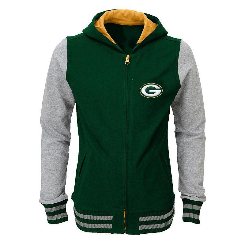 Girls 7-16 Green Bay Packers Varsity Hoodie Jacket