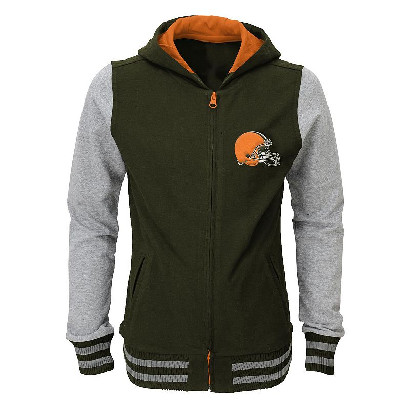 Girls 7-16 Cleveland Browns Varsity Hoodie Jacket