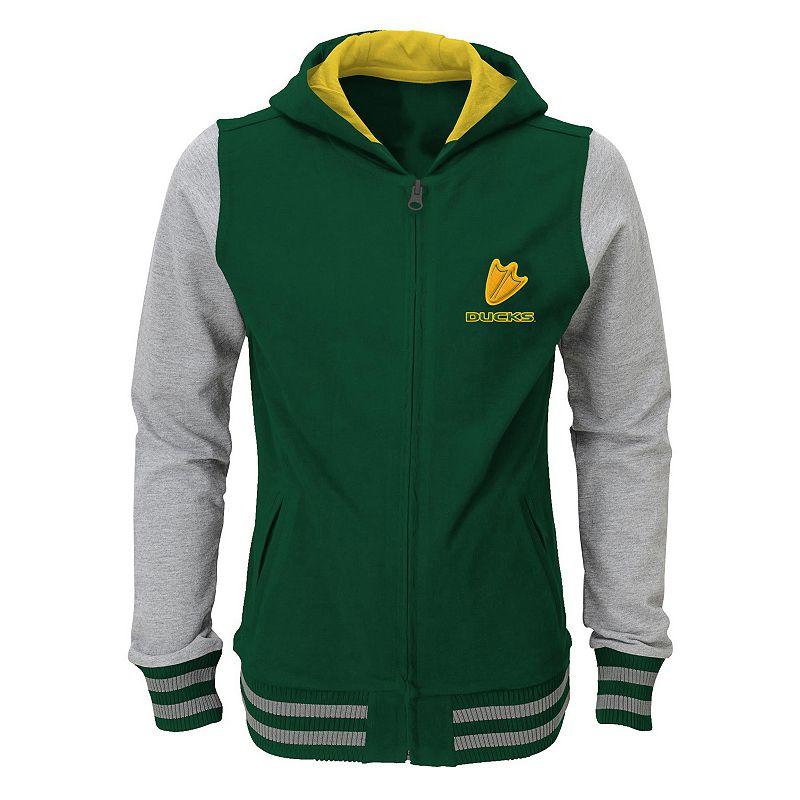 Girls 4-6x Oregon Ducks Varsity Hoodie Jacket