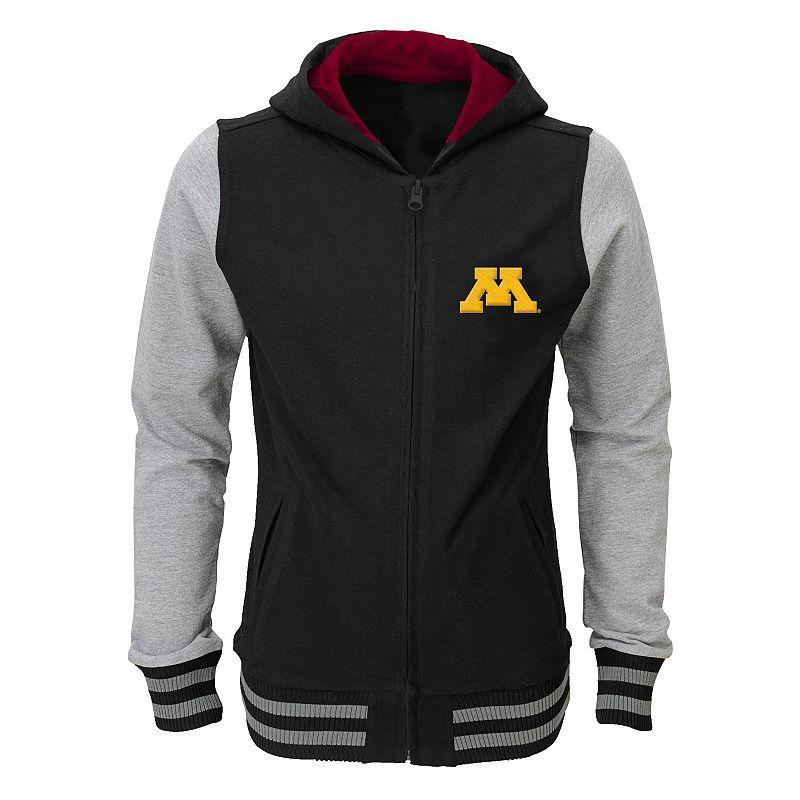 Girls 4-6x Minnesota Golden Gophers Varsity Hoodie Jacket