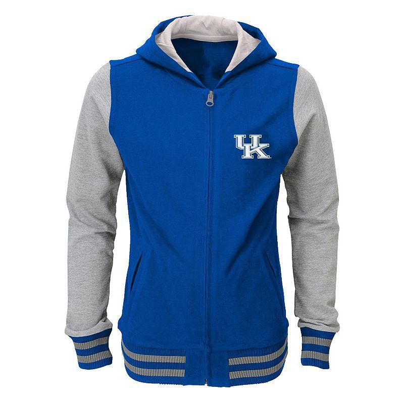 Girls 4-6x Kentucky Wildcats Varsity Hoodie Jacket