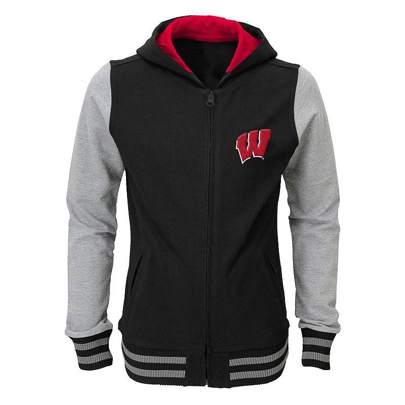 Girls 4-6x Wisconsin Badgers Varsity Hoodie Jacket