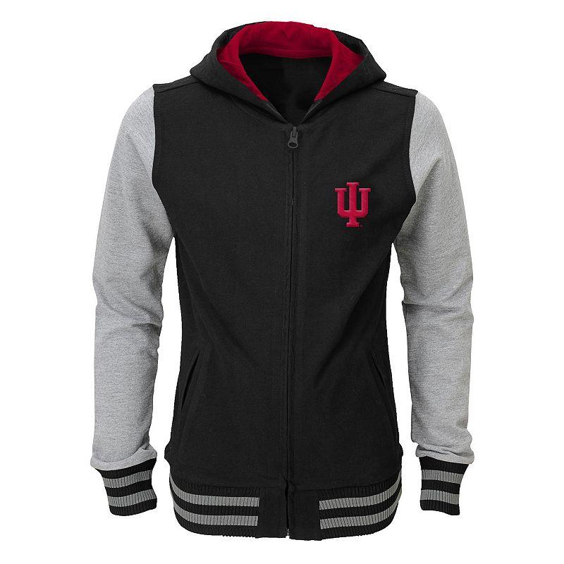 Girls 4-6x Indiana Hoosiers Varsity Hoodie Jacket
