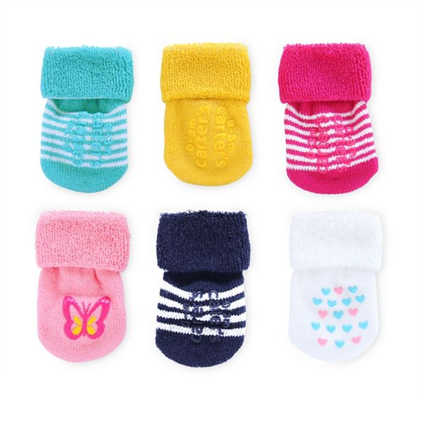 Baby Carter's 6-pk. French Terry Striped Socks