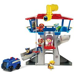 Paw Patrol Lookout Playset with 6 Pup Figures by