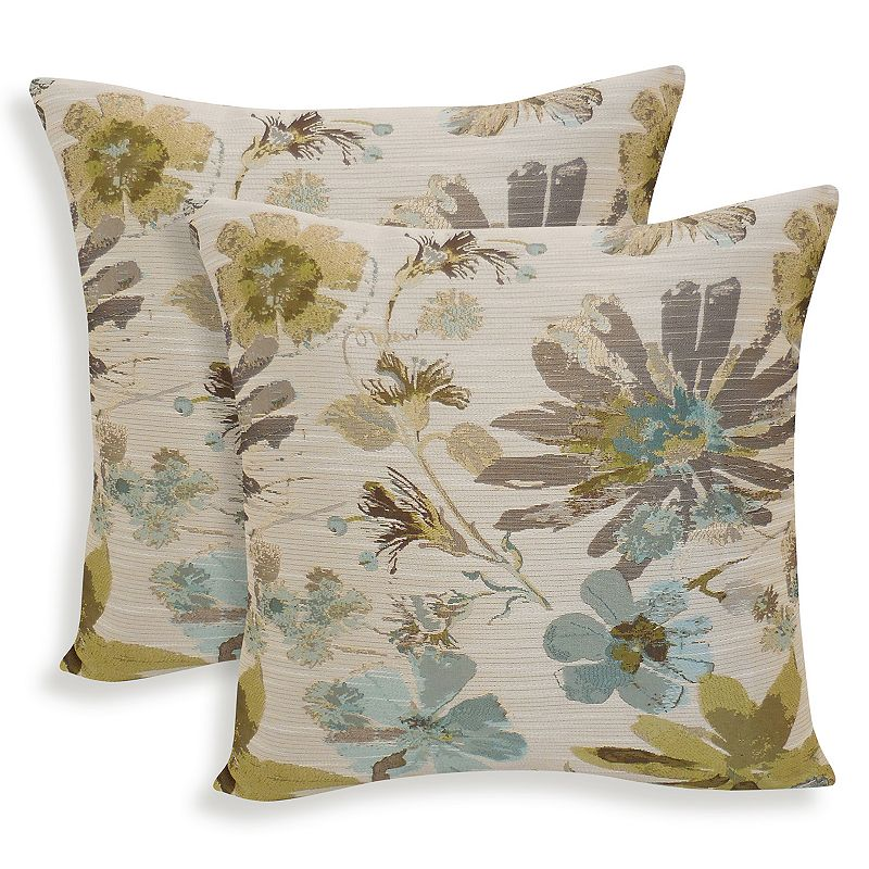 Perla 2-piece Woven Floral Throw Pillow Set