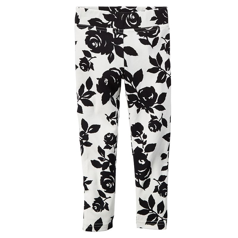 Girls 4-8 Carter's Floral Leggings