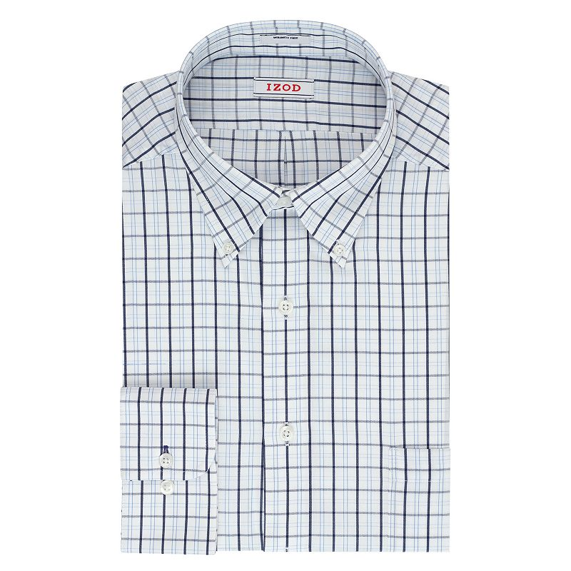 Men's IZOD Solid Twill Regular-Fit Button-Down Collar Dress Shirt