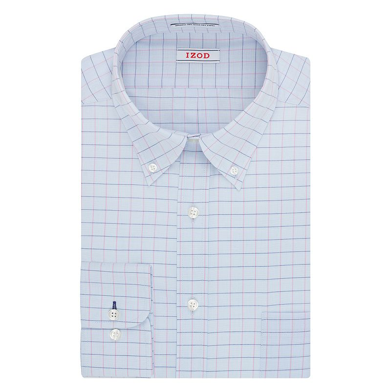 Big & Tall IZOD Regular-Fit Solid Twill Button-Down Collar Dress Shirt