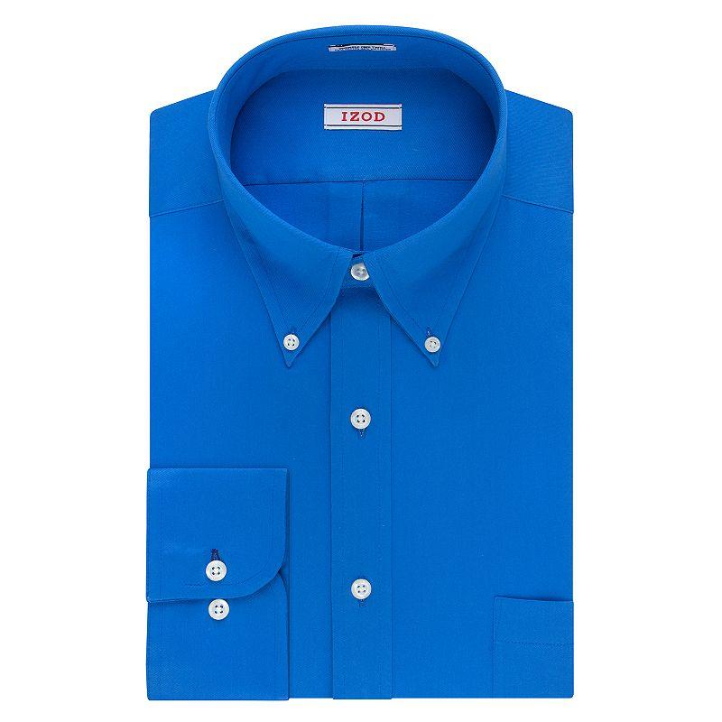Big & Tall IZOD Regular-Fit Solid Twill Button-Down Collar Dress Shirt