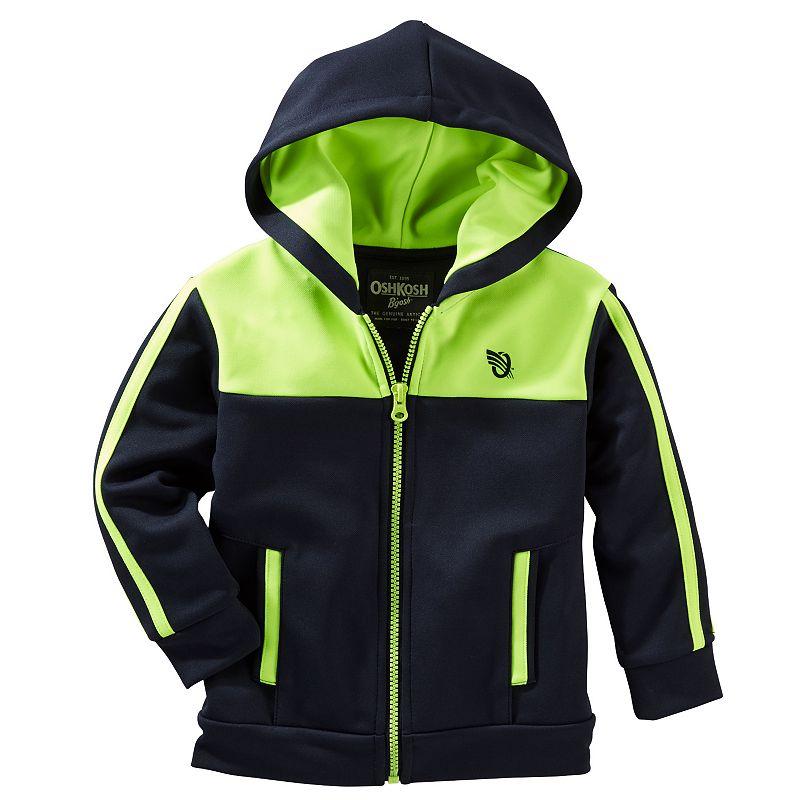 Boys 4-7 OshKosh B'gosh® Colorblock Full-Zip Active Hoodie