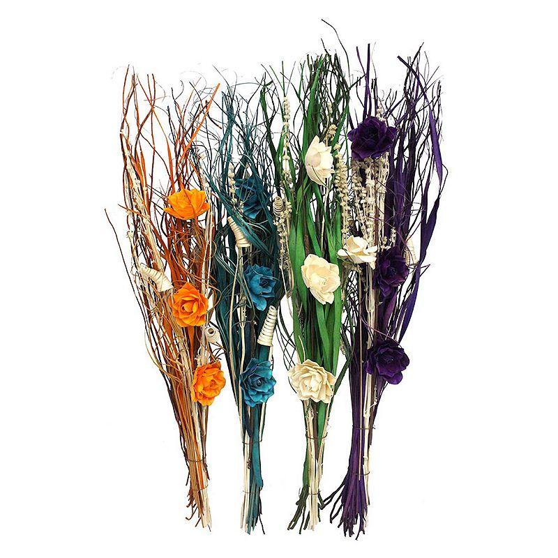 Artificial Floral 4-piece Curl Decor Set