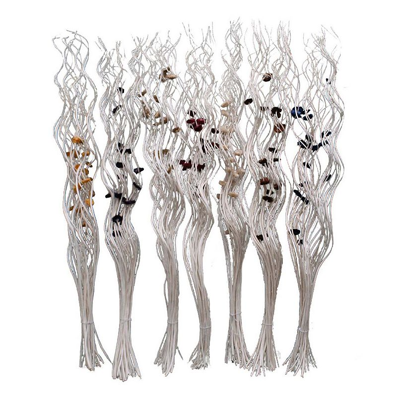 7-piece Twisted Artificial Flowers Set