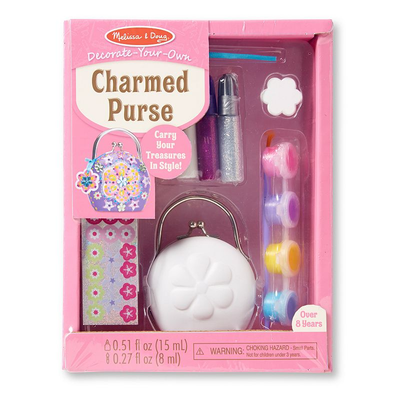 Melissa & Doug Decorate-Your-Own Charmed Purse, Multicolor
