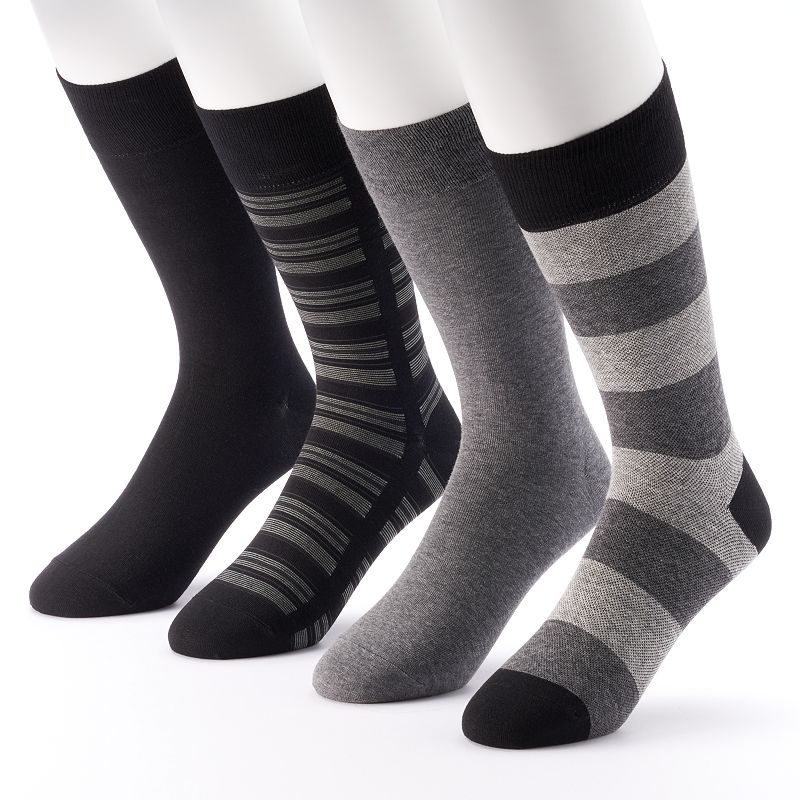 Men's Marc Anthony 4-pack Striped & Solid Dress Socks