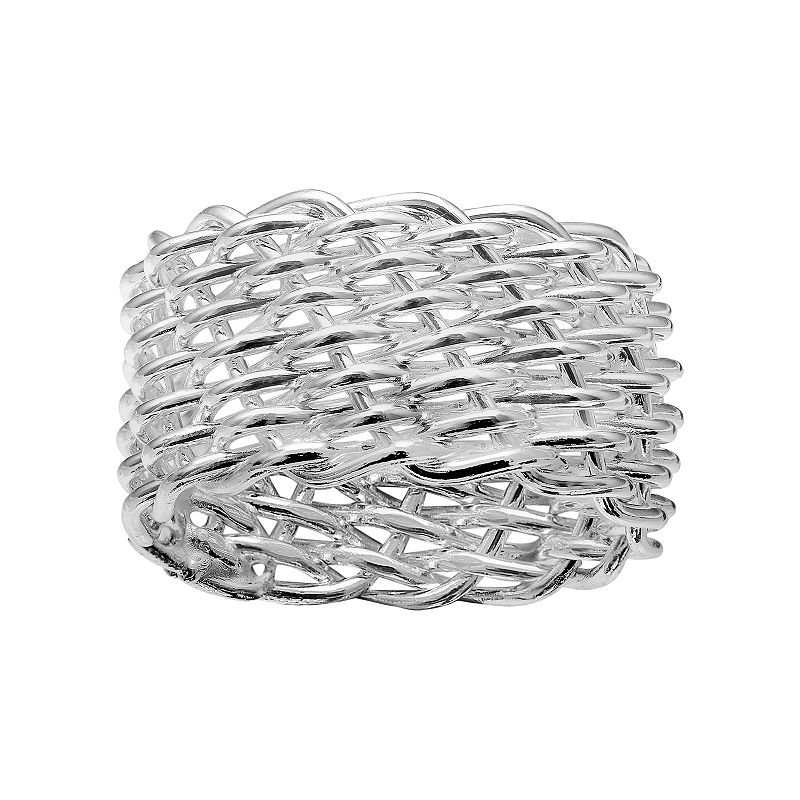Pure Sterling Silver Mesh Ring