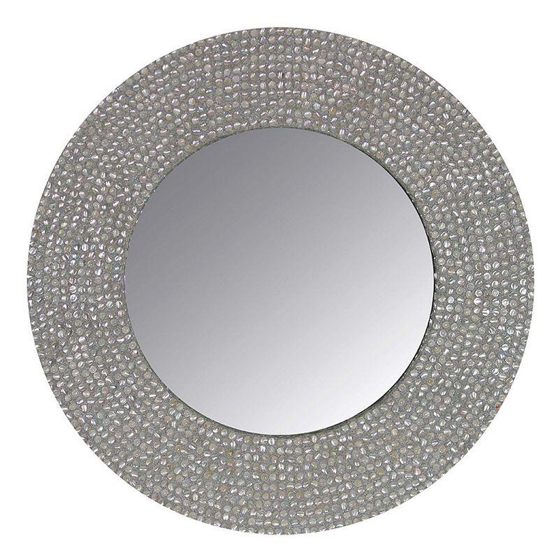 Seashell Round Mirror