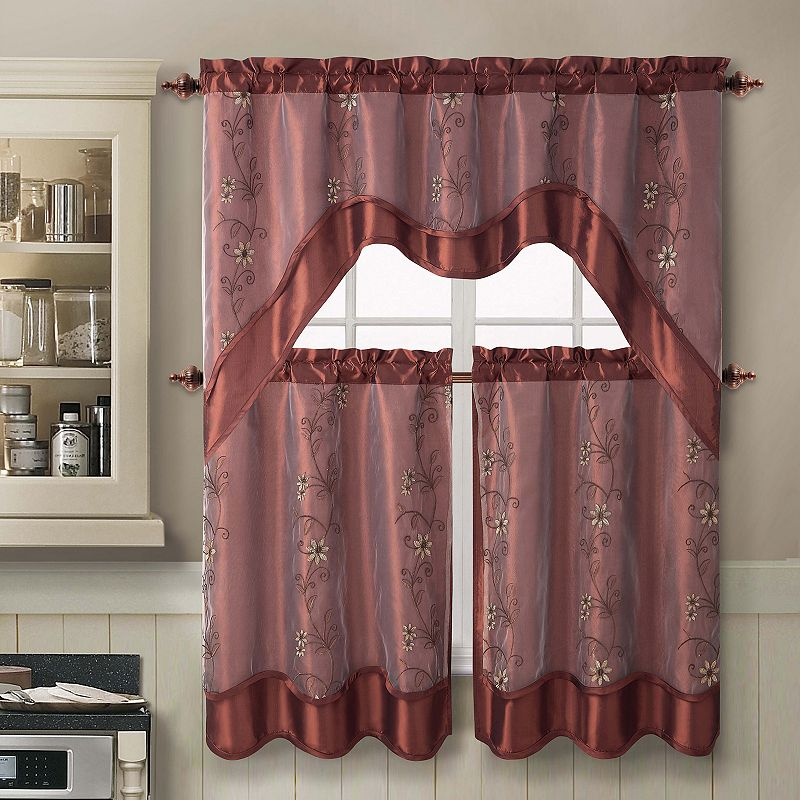 Kohl S Kitchen Curtains: Polyester Kitchen Curtain Set