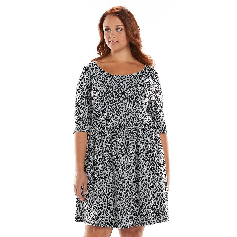 Plus Size Apt. 9® Textured Fit & Flare Dress