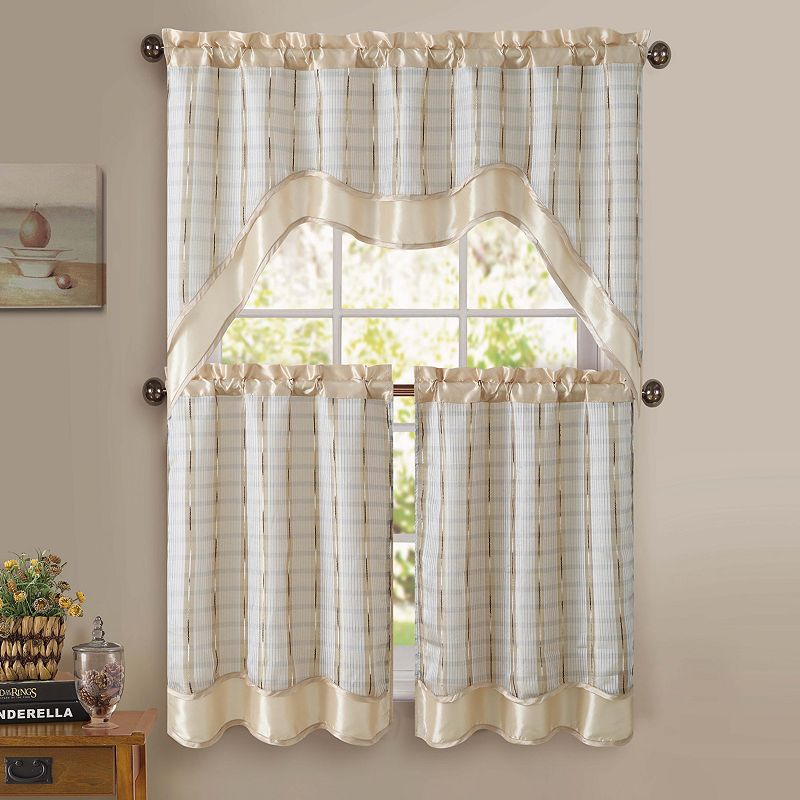 Brown Kitchen Curtain Set