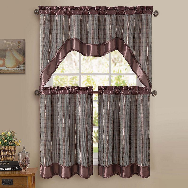 Brown kitchen window treatment kohl 39 s - Kohls kitchen curtains ...