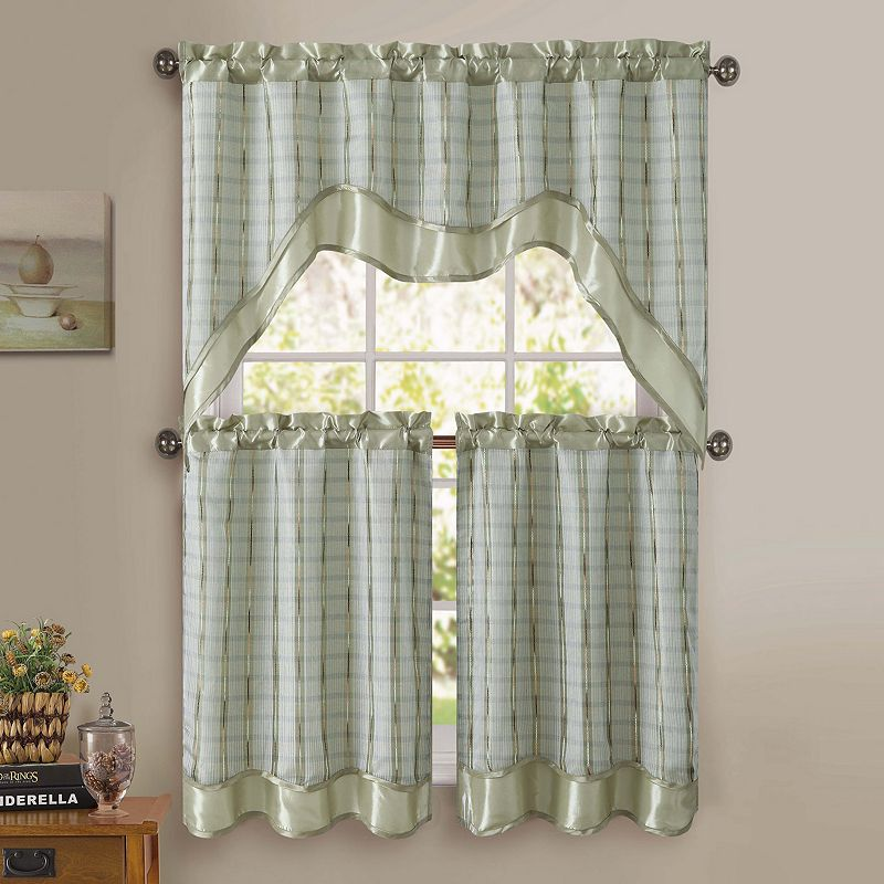 VCNY Sabrina 3-pc. Swag Tier Kitchen Curtain Set