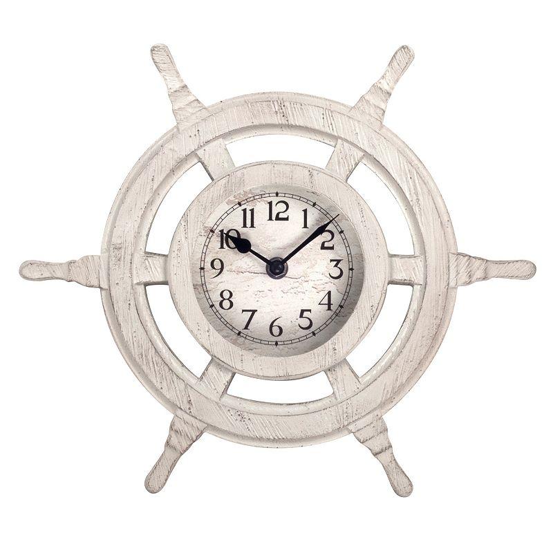 Nautical Ship's Wheel Wall Clock
