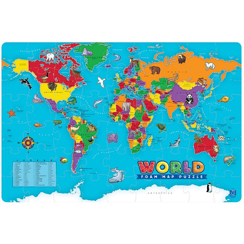 Educational Insights World Foam Map Puzzle
