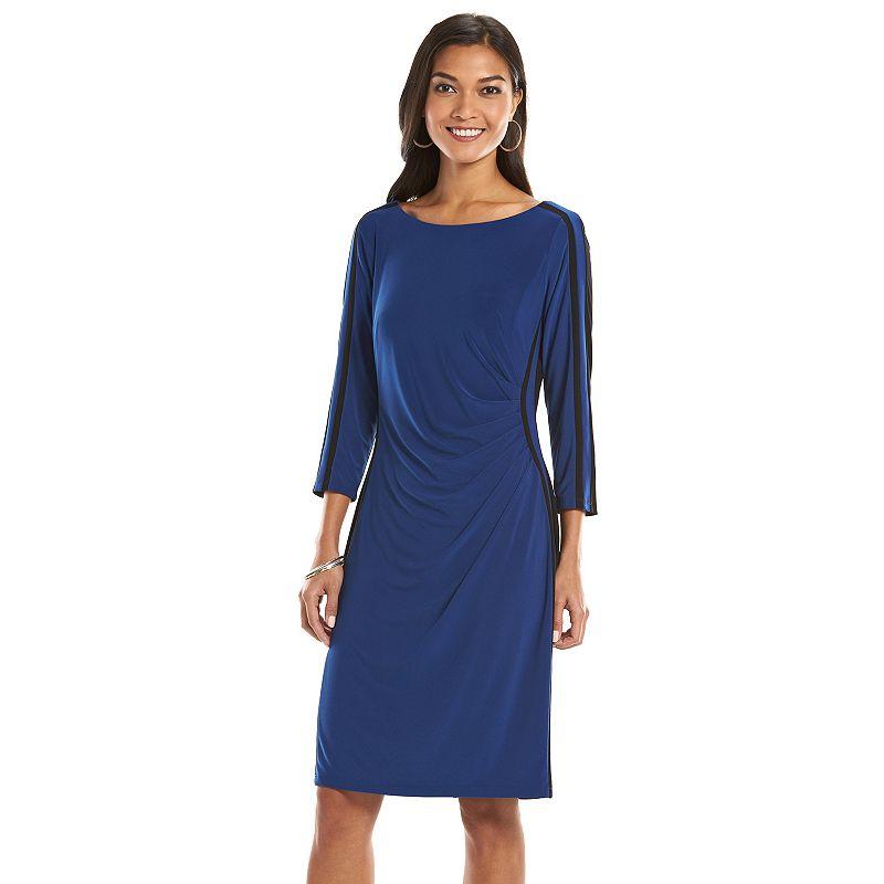 Women's Chaps Colorblock Ruched Sheath Dress