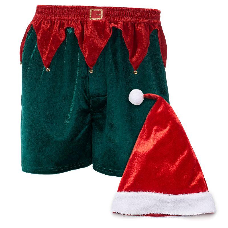 Men's Elf Hat & Boxers Gift Set