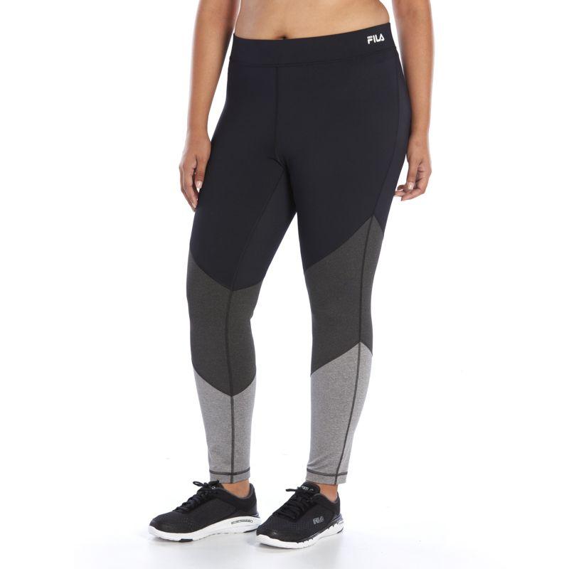 Plus Size FILA Sport® Tonal Colorblock Leggings, Women's, Size: 3XL, Black