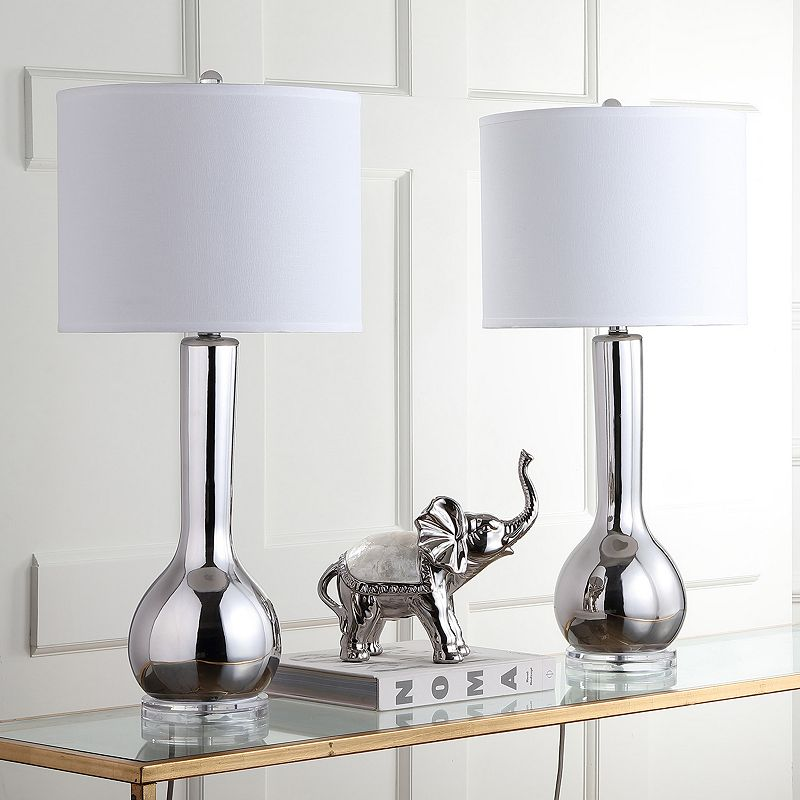 Safavieh 2-piece Long Neck Ceramic Table Lamp Set