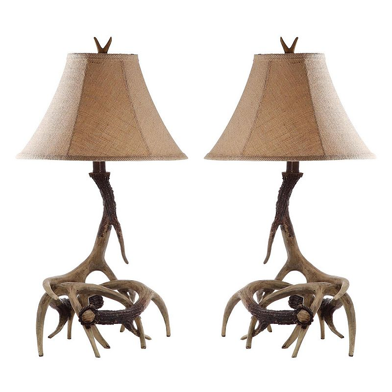 Safavieh Sundance 2-piece Antler Table Lamp Set