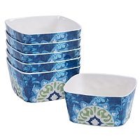 Certified International Barcelona by Jennifer Brinley 6-pc. Melamine Ice Cream Bowl Set
