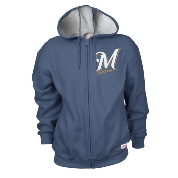 Men's Stitches Milwaukee Brewers Thermal Sherpa-Lined Hoodie