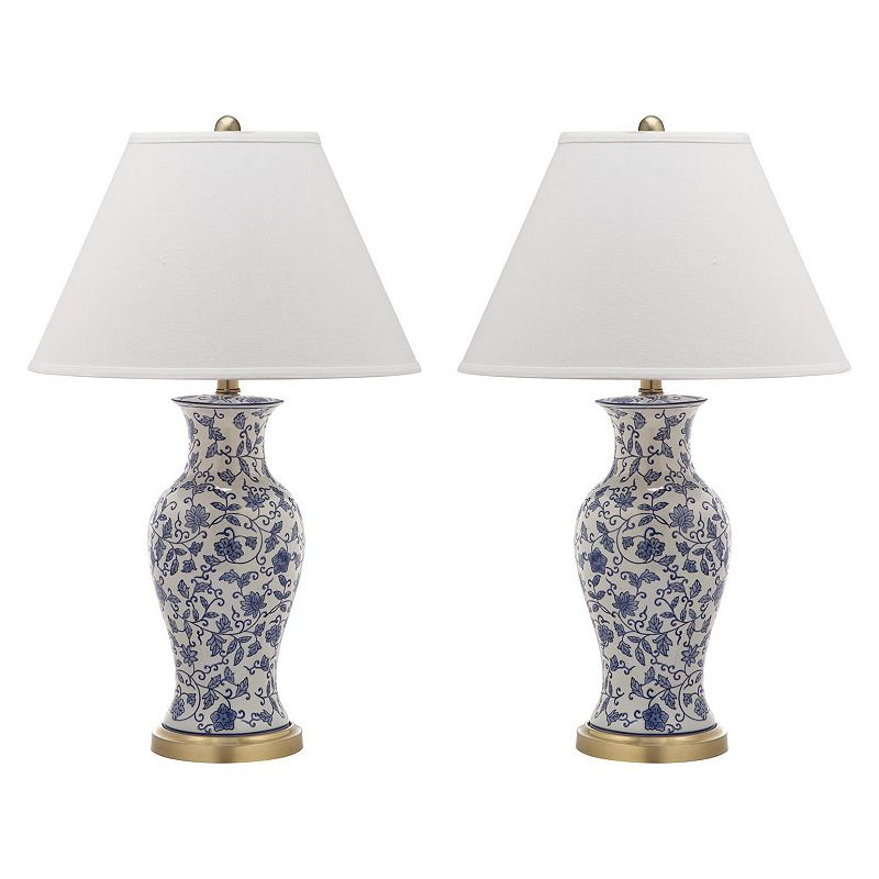 Safavieh 2-piece Beijing Floral Urn Lamp Set