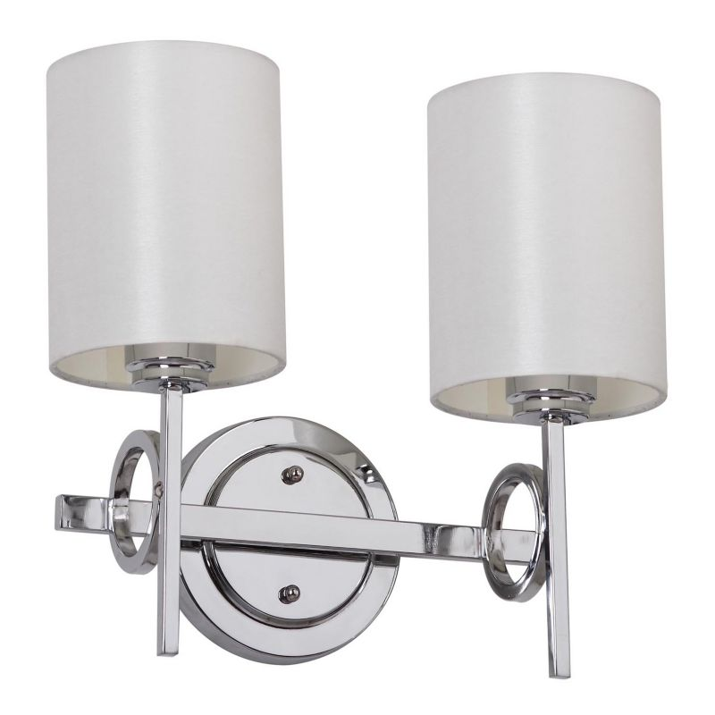 Double Wall Homes Double Light Wall Sconce