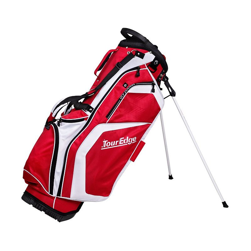 Tour Edge Golf Hot Launch Stand Golf Bag, Red