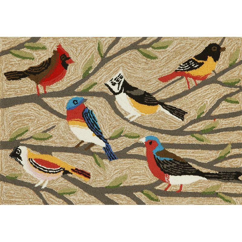 Trans Ocean Imports Liora Manne Frontporch Birds Indoor Outdoor Rug