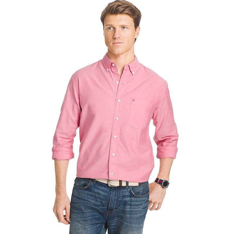 Red button down oxford shirt kohl 39 s for Men s oxford button down shirts