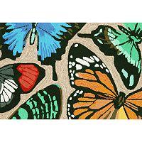 Trans Ocean Imports Liora Manne Frontporch Butterfly Dance Indoor Outdoor Rug