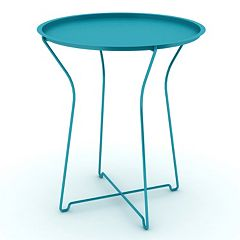 dar Round Metal Side Table by